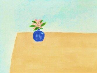 「春の香り」イラスト原画 ※額縁入りの画像