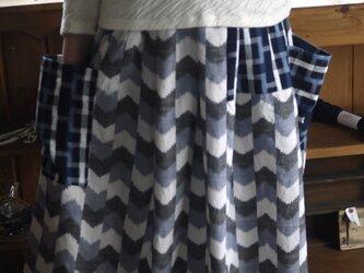 久留米絣2種のスカートの画像