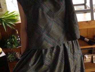正絹新反トップスとギャザースカートセットアップの画像