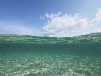 ゆらめき-2 PH-A4-0168  写真 奄美大島 白い雲 鹿児島 南国 オーシャン トロピカルの画像