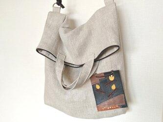 サンポのリネンツイル2wayバッグの画像