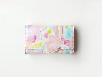 4連キーケース strawberry on the short cake peace カードポケットありの画像