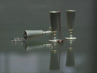 「conceal」ミニチュアペンダント フルート「ロゼ/白」の画像