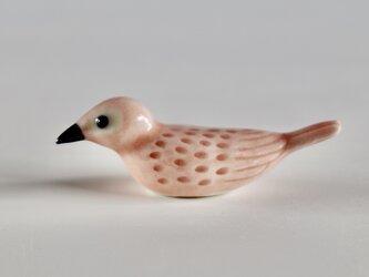彩色小鳥箸置き ピンクの画像