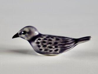 彩色小鳥箸置き 紫の画像