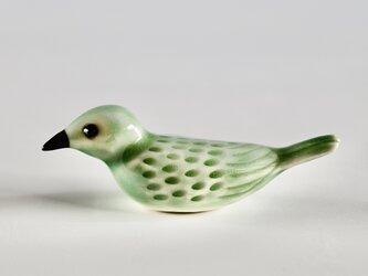 彩色小鳥箸置き 緑の画像