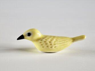 彩色小鳥箸置き 黄色の画像