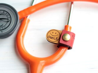 聴診器 スマートネームタグ(レッド)の画像