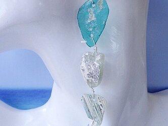 *sv925 *Ancient Roman Glass big earrings ローマングラスの大ぶりピアスの画像