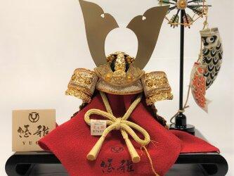 新商品 五月人形 白鐘5号兜平台飾りの画像