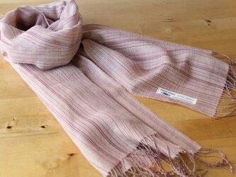 手織り・草木染め シルク×リネン×コットンストール の画像