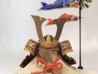 新商品 五月人形 成上6号鯉幟丸台兜の画像