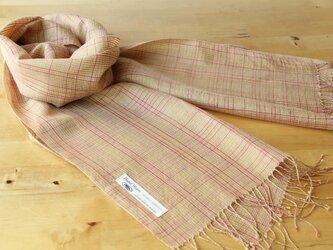 手織り・草木染め シルクストール の画像