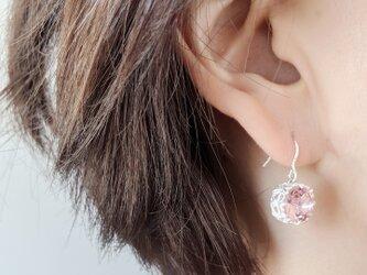 SV925 Cherry-Pink * 2021s/sNew Swarovski *Lily crown ピアスorイヤリングの画像