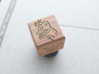消しゴムはんこ「小さいサイズ☆OK☆ティラノサウルス」の画像