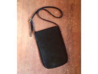 新作 スウェード 牛革 ブラック レクタングルバッグ ショルダーバッグの画像