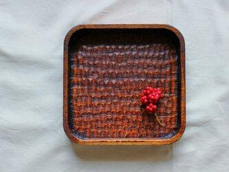 胡桃の拭漆盆④の画像