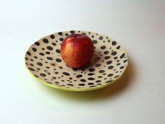 水玉模様の角皿/陶芸家がつくるモダンな黄色い器/おしゃれで可愛い器/器好きの食卓/現代陶芸の画像