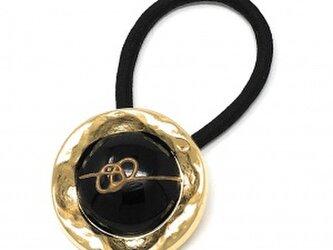 ジャパン 世界の飾りボタン ヘアゴム ゴールド[mazh-110]の画像