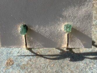 ザンビア産エメラルドのイヤリングの画像