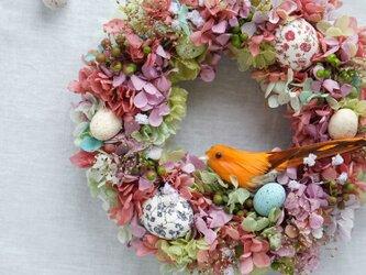 Easter Wreath 21cm(プリザ)の画像