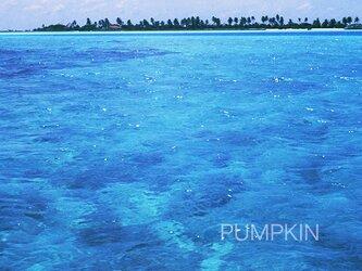 モルディブの渚-015  PH-A4-0180 写真 モルディブ インド洋 南国 オーシャン トロピカル の画像