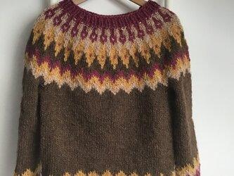 アイスランドロピセーター 手編み MからLサイズの画像