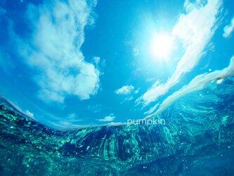 ゆらめき-5  PH-A4-0188写真 奄美大島 白い雲 鹿児島 南国 オーシャン トロピカルの画像