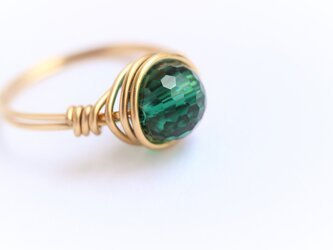 Green Quartz Wire Ring の画像