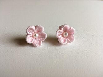 千里花~せりか~ イヤリング 桜色の画像