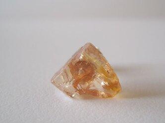 インペリアルトパーズの原石ピアス /Brazil 14kgf 片耳の画像
