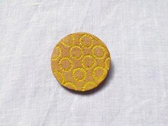 たんぽぽ1(イエロー) 陶土ブローチの画像