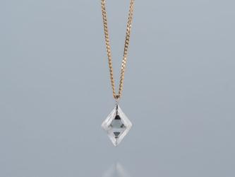 【ストック】Gazzara ダイヤモンド原石ペンダント / Pt950 K18YGの画像