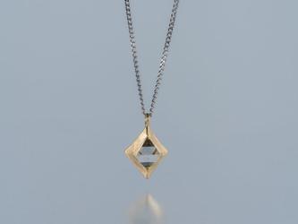 【ストック】Gazzara ダイヤモンド原石ペンダント / K18YG Pt850の画像