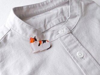 三毛猫のブローチ(ボックス入)の画像
