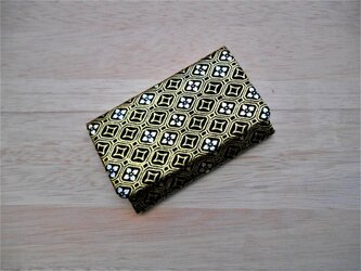 #名刺入れ #カードケース #銀ラメ正絹シルク黒地製 #ゴールドカラー #京都の画像