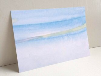 blue 水彩画 ポストカード2枚セット  癒し ナチュラル アート ナチュラコ の画像