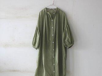 【春NEW】ドロップショルダー ロングシャツ*リトアニアリネンの画像