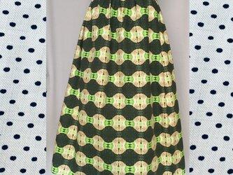 綿オックスフォードスカート ヒメジャノメオリジナル柄の画像