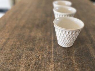 ホリホリカップ(白)の画像