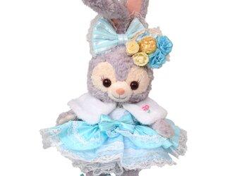 ステラ・ルー 服 コスチューム ケープ付Babyブルー ドレス 本体無 Sサイズ用 送料無料の画像