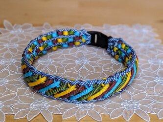 パラコード首輪 中型~大型犬用 (内径40cm) トロピカルカラー5色編みの画像