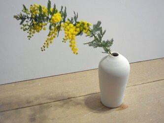 一輪挿し 白磁 瓶子形 の画像