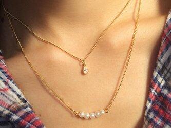 2連ネックレス Drop&Pearlの画像