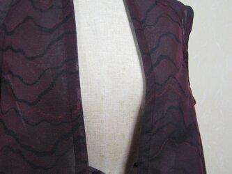 紗の羽織からベストに仕上げました。の画像