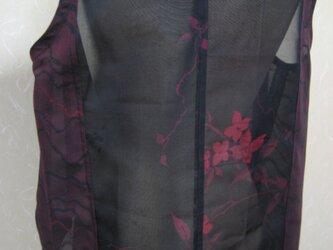 紗の羽織2種類からシンプルなブラウス兼ベストにの画像
