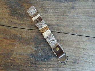 裂き織りのキーホルダーの画像