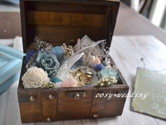 海の宝箱*リングピローの画像