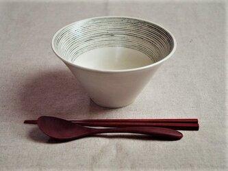 麺鉢 黒ボーダーの画像