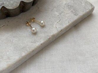 【パールSALE】 14kgf Pearl stud(池蝶真珠)4mmの画像